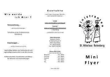 M ini F lyer - auf der Homepage der Katholischen Seelsorgeeinheit ...