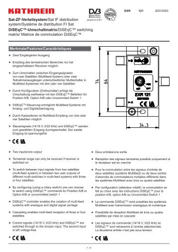 9364040, Sat-ZF-Verteilsystem DiSEqC-Umschaltmatrix ... - Kathrein