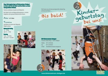 Kinder- geburtstag - Kletterzentrum Stuttgart