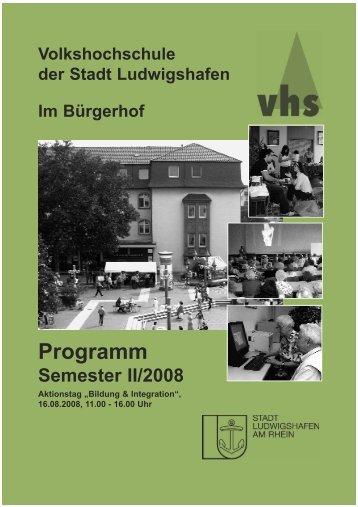 Deckblatt II-2008 dünkelgrün Internet:Layout 1.qxd - Volkshochschule