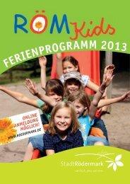 FERIENPROGRAMM 2013 - Stadt Rödermark