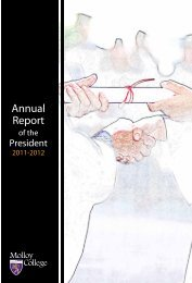 Annual Report of the President - 2011-2012 - Molloy College