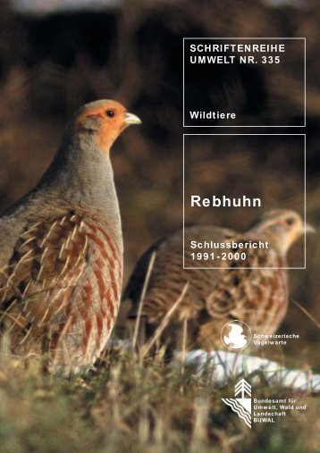 Rebhuhn. Schlussbericht 1991–2000 - BAFU