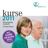 Kursprogramm 2011 - Physio Austria