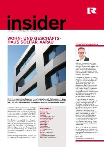 wOhn- und geSchäftS- hauS SOLitar, aarau - Rhomberg Bau AG