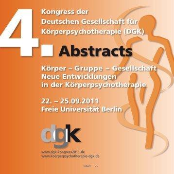 4. Abstracts - Deutsche Gesellschaft für Körperpsychotherapie e.V.