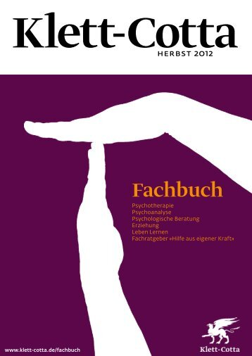 Neuerscheinungen Psychotherapie Fachbuch Herbst ... - Klett-Cotta
