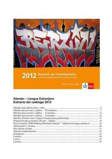 Alemán - Lengua Extranjera - Ernst Klett Verlag