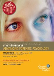 AdvAncing Forensic Psychology - The Conference Organiser