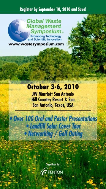 • Over 100 Oral and Poster Presentations • Landfill Solar Cover Tour ...