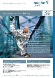 Aluminisierte Hitzeschutzkleidung - sudhoff technik GmbH