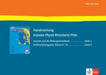 Stoffverteilungsplan Klassen 8-10 und Vergleich ... - Ernst Klett Verlag