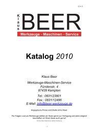 Katalog Werkzeug 2010 - Beer