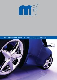 NON-PAINTS CAR 3000 Produkte / Products ... - Master Products