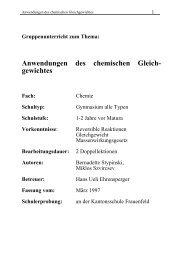 Anwendungen des chemischen Gleich- gewichtes - SwissEduc