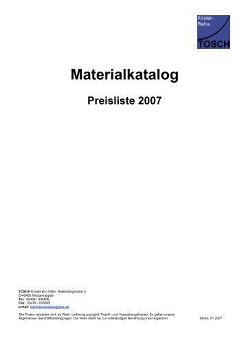 Materialkatalog - TOSCH Kinderreha OHG