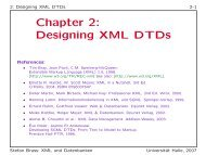 Chapter 2: Designing XML DTDs