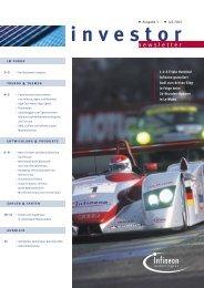 Infineon Investor Newsletter Ausgabe 3, Juli 2002 - More.de AG