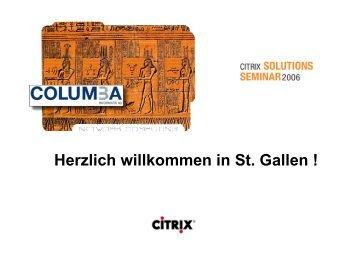 Rechencenter Dienstleistungen - Columba Informatik AG, St. Gallen
