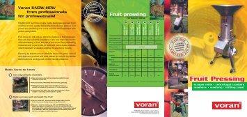 Fruit pressing - voran Maschinen GmbH