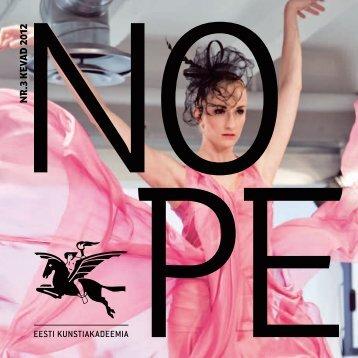 n r .3 k eva d 2012 - NOPE - Eesti Kunstiakadeemia