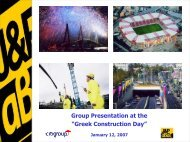 """Group Presentation at the """"Greek Construction Day"""" - J&P"""