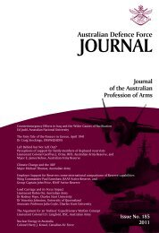 ISSUE 185 : Jul/Aug - 2011 - Australian Defence Force Journal