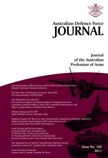 ISSUE 185 : Jul/Aug - 2011 - Australian Defence Force Journal