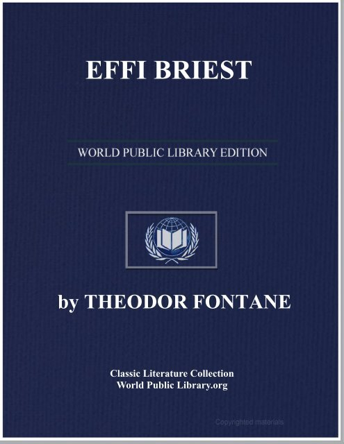 EFFI BRIEST - World eBook Library - World Public Library