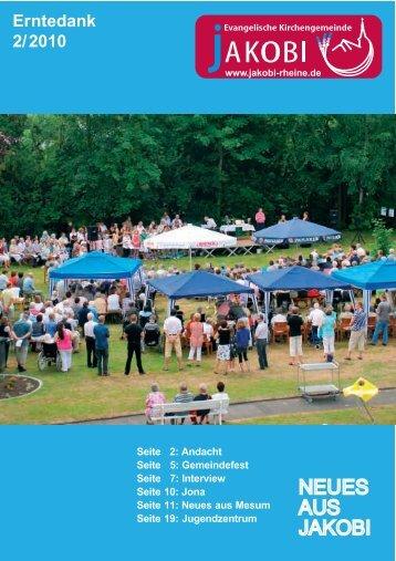Ausgabe 2 / 2010 - Evangelische Kirchengemeinde Jakobi zu Rheine