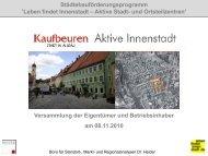 Präsentation Versammlung der Eigentümer und ... - Stadt Kaufbeuren