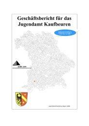 Geschäftsbericht für das Jugendamt Kaufbeuren - Stadt Kaufbeuren