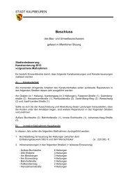 Stadtentwässerung Kanalsanierung 2012 ... - Stadt Kaufbeuren