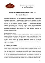 Mousse - Chocolates Camille Bloch