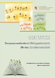 DEUTSCH - Ministère de l'éducation nationale et de la formation ...