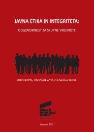 JAVNA ETIKA IN INTEGRITETA: - Komisija za preprečevanje korupcije