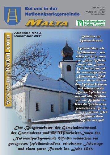 Gemeindezeitung Dezember 2011 - Gemeinde Malta