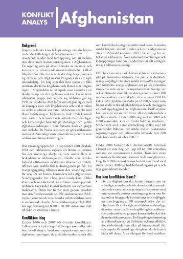 25 Konfliktanalys Afghanistan – Svenska freds och ...