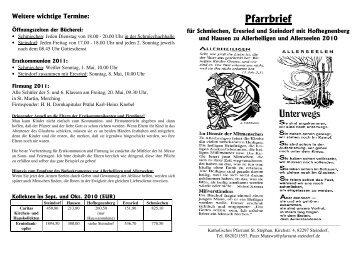 Pfarrbrief zu Allerheiligen u. Allerseelen 2010 - VG Mering