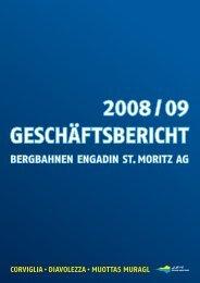Einzelabschluss Bergbahnen ENGADIN St. Moritz AG