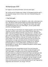 Waldspielgruppe 2005 - Waldkindergarten Landshut