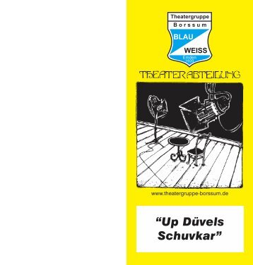 Programmheft - Theatergruppe Blau-Weiss Borssum