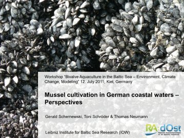 Mussel cultivation in German coastal waters - IOW