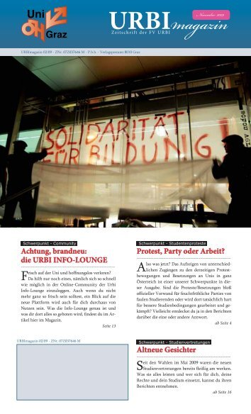 Download URBImagazin 02/09 - URBI Info-Lounge, Studierende ...