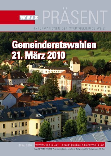 Gemeinderatswahlen 21. März 2010 Gemeinderatswahlen ... - Weiz