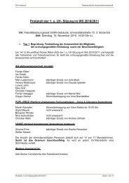 Protokoll der 1. o. UV - Österreichische Hochschülerschaft