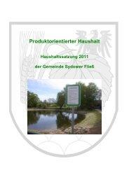 Haushalt 2011 - Amt Biesenthal-Barnim