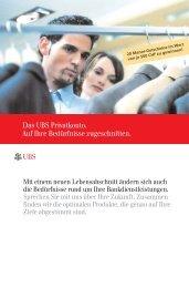 Das UBS Privatkonto. Auf Ihre Bedürfnisse ... - Anaconda Textagentur