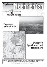 zwischen Eppelheim und Heidelberg Geplantes Hopp-Stadion