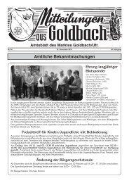 Goldbach amtlich